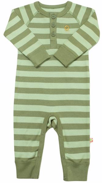 Bilde av heldress øko grønn striper
